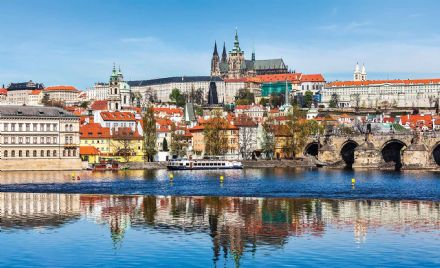 Giant non-woven wallpaper murals  City Prague Bridge River Cathedral 3249VEXXXL